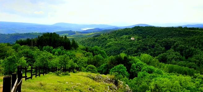 изглед по пътя към връх вр. Сирищнишка Рудина , планина Рудина